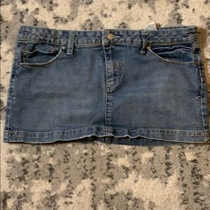 Denim jean skirt with cute star pockets on back